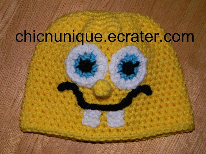 Spongebob Squarepants Crochet Hat *Any Size Available*