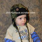 Military Army Aviator Earflap Crochet Hat *Any Size/Color Available*