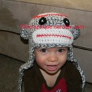 Soft & Cuddlie Sock Monkey Hat Beanie *Any Size Available*
