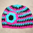 Rave Techno Bright Crochet Hat *Any Size Available*