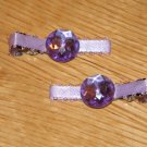 Only 1 Set Left!  Set of Light Purple Gem Clips!