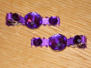 New!!  Set of Purple Gem Hair Clips!