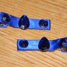 New!!  Set of Blue Sparkle Gem Hair Clips!