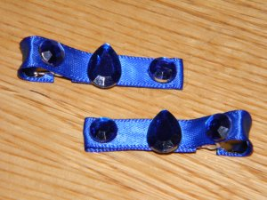 New!!  Set of Blue Sparkle Gem Hair Clips!