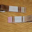 New!!  Set of Pink & Brown Striped Hair Clip
