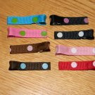 New!!  Set of 8 Multi-Pack Polka Dot Hair Clips