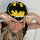 •◘• BATMAN!!  Custom Crochet Hat *Any Size Available* •◘•