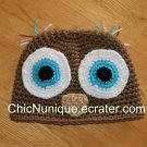 •◘• Owl Hoo Custom Crochet Hat *Any Size Available* •◘•
