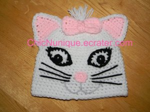 Marie The Cat off of Aristocat Custom Crochet Hat *Any Size*