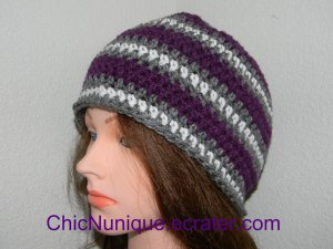 Northwestern University Team Colors Adult Size Crochet Hat