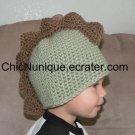*Adorable Dino Dinosaur Stegasaurus Spike Beanie Cap Hat *Any Size Available*
