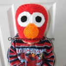 Sesame Street Elmo The Red Monster Adorable Custom Crochet Hat *Any Size Available*