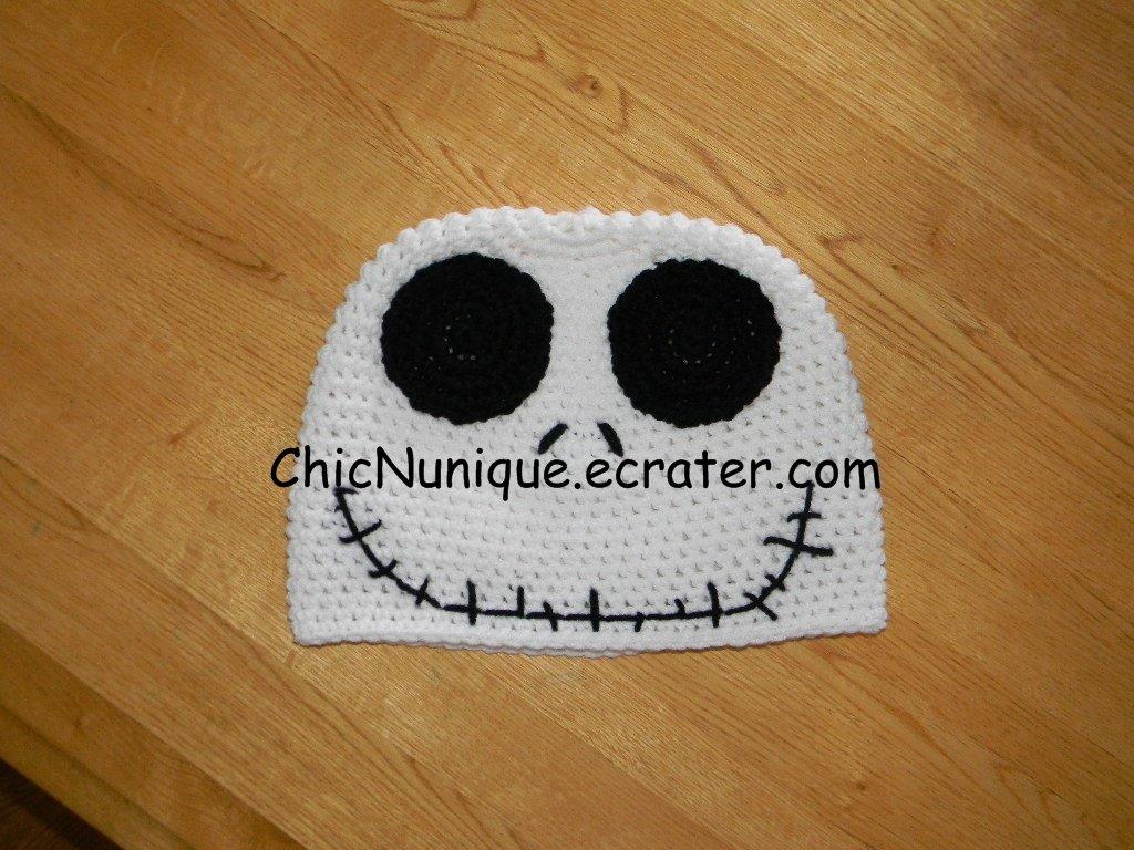 Nightmare Before Christmas, Jack Skellington Crochet Adult Size Hat