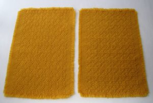 Woven Placemats in Deep Gold Color - Set of 2 - Use Indoors and Outdoors