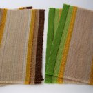 Woven Striped Placemats in Heathered Earth Tones - Set of 4 - Use Indoors or Outdoors