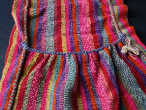 Hand-Woven Wool Shoulder Pack from Peru - Authentic Vintage Alforja - Collectable and Rare