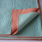 American Handmade Whole Cloth Quilts - Early 20th Century - Matching Pair - Exquisite and Rare