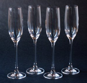 Lenox Tuscany Classics Crystal Champagne Flutes - Set of 4 - Contemporary Styling