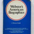 Webster's American Biographies - Merriam-Webster - 3,000 Entries