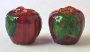 Franciscan Apple Salt and Pepper Shakers - Vintage - Made in USA