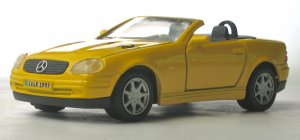 Maisto Mercedes SLK Diecast Car - 1/35 Scale Model Made for German Postal Service Promo