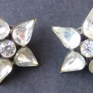 Vintage Rhinestone Star Pins - Set of 2 - MidCentury Costume Jewelry