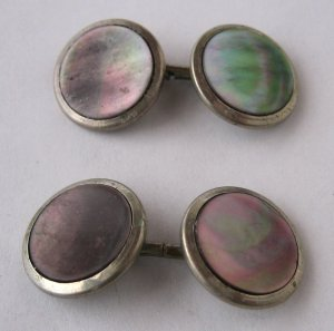 Vintage Mother of Pearl Cufflinks by Hickok - Understated Style With a Hint of Shimmer - MidCentury