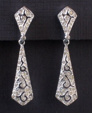 Vintage Panetta Rhinestone Drop Earrings - Fine Costume Jewelry From High Quality MidCentury Mark