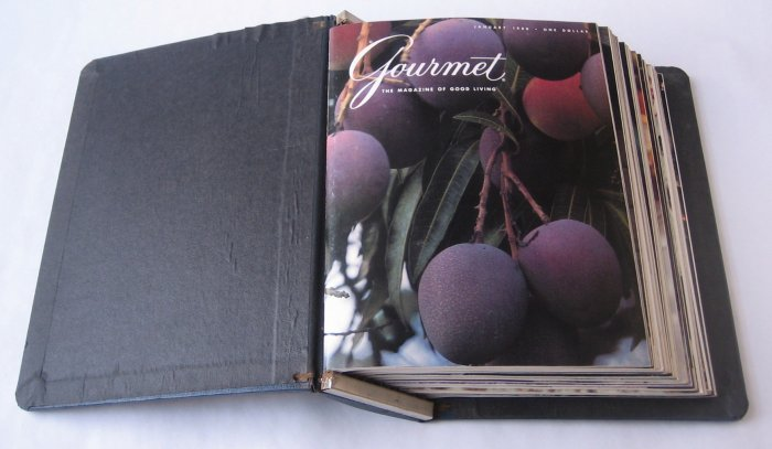 Gourmet Magazine 1980 - Complete Set of 12 Issues in Bound Volume - Volume 40, Numbers 1-12