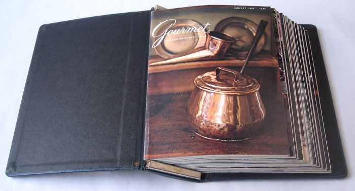 Gourmet Magazine 1982 - Set of 11 Issues in Bound Volume - Volume 42, Numbers 1-10 and 12
