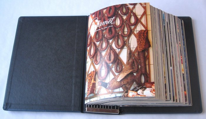 Gourmet Magazine 1983 - Complete Set of 12 Issues in Bound Volume - Volume 43, Numbers 1-12