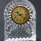 "Waterford Crystal Clock For Table or Mantel - 6.5"", Graceful Arched Silhouette - Made in Ireland"
