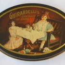 Vintage Ghirardelli Chocolate Tin – Charming Scene of Child's Tea Party – Collectible