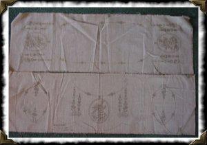 Vintage Vogart 229 chair set table runner stamped linen