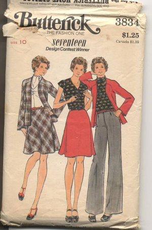 1970s Seventeen Design Contest Winner Butterick 3834 size 10