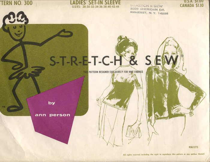 Ladies' Set-In Sleeve T-shirt and Cardigan Stretch & Sew 300