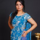Blue Bridal Saree