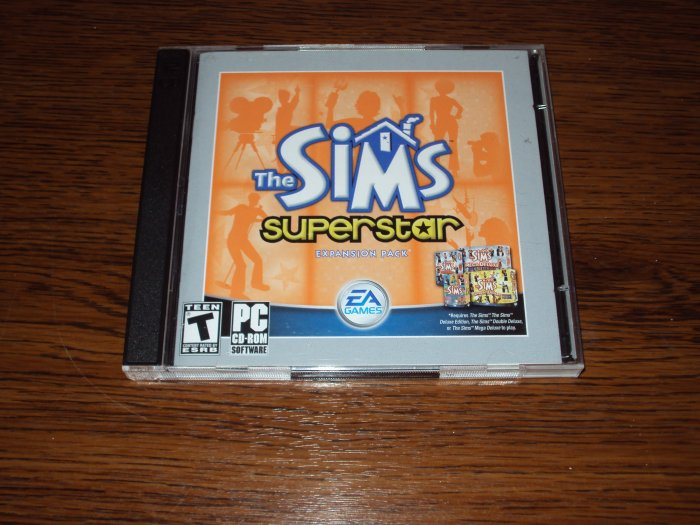 PC The Sims Superstar EXPANSION PACK *USED*