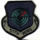 USAF 57TH WING PATCH INSIGNIA $4 WAR COMBAT FIGHTER JET AIRLIFT PILOT CREW