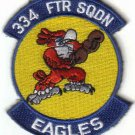 USAF 334 FIGHTER SQUADRON EAGLES PATCH INSIGNIA $4 WAR COMBAT FIGHTER JET PILOT CREW AVIATOR
