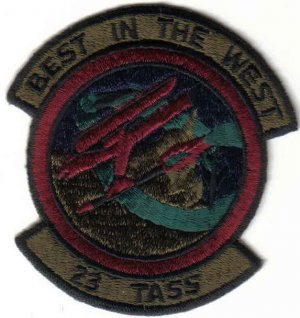 USAF 23D TACTICAL AIR SUPPORT SQUADRON PATCH WAR COMBAT FIGHTER JET PILOT
