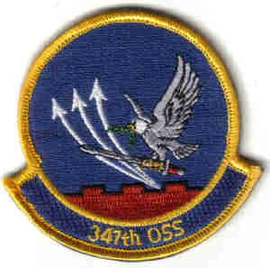 MILITARY PATCH USAF 347TH OSS OPERATIONS SUPPORT SQUADRON FIGHTERJET PILOT Moody AFB, Georgia