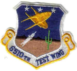 MILITARY PATCH USAF 6510 TEST WING MISSILES FIGHTER JETS AIRCRAFT