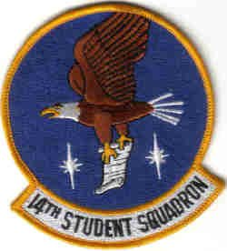 USAF 14TH STUDENT SQUADRON MILITARY PATCH WAR COMBAT AIRCRAFT
