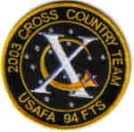 USAFA 94FTS 2003 CROSS COUNTRY TEAM AIR FORCE PATCH SOLDIER