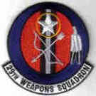 29TH WEAPONS SQUADRON USAF PATCH Little Rock AFB, Arkansas GUNS BOMBS MISSILES ROCKETS