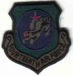 FOURTEENTH AIR FORCE USAF MILITARY INSIGNIA PATCH SUBDUED Vandenberg AFB, California