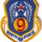 NINTH AIR FORCE MILITARY INSIGNIA PATCH Shaw AFB, South Carolina WAR AIRCRAFT PILOT CREW
