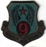 NINTH AIR FORCE Shaw AFB, South Carolina USAF MILITARY INSIGNIA PATCH SUBDUED WAR AIRCRAFT