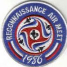 RECONNAISSANCE AIR MEET 1986 Bergstrom AFB, Texas USAF PATCH FIGHTERJETS WAR AIRCRAFT